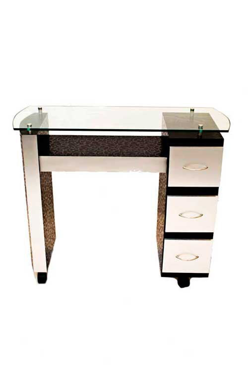Mesa de manicure base de madera